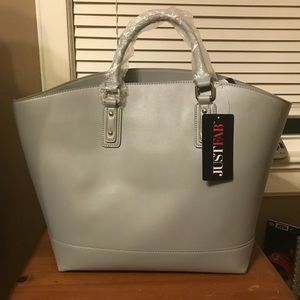 Large JustFab tote-size handbag.